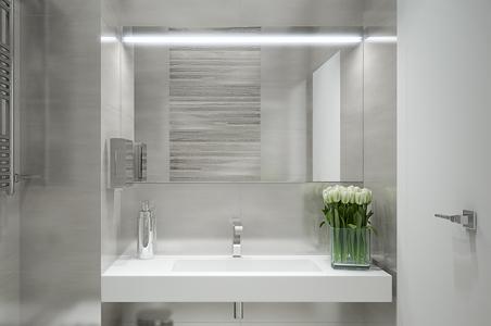 LED-Spiegelbeleuchtung im Badezimmer