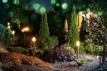 Außenbeleuchtung im Garten