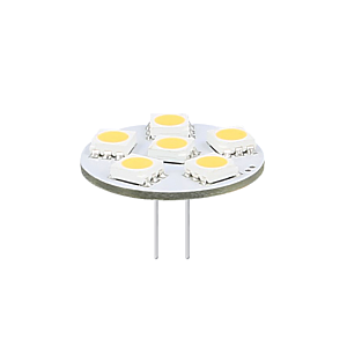 G4/GU4 LED-Lampe 12-24V mit Back-Pins 1W SMD 2900K dimmbar