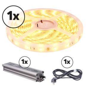 LED-Streifen 5m Komplettes Set 12V 3000K IP68 150 SMD 3528 LEDS