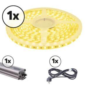 LED-Streifen 5m Komplettes Set 12V 3000K IP65 300 SMD 2835 LEDS