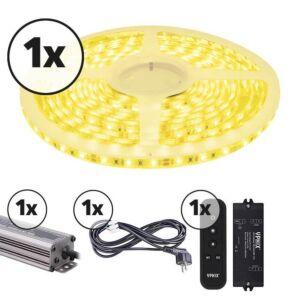 LED-Streifen 5m Komplettes Set 12V 3000K IP65 dimmbar 300 SMD 2835 LEDS