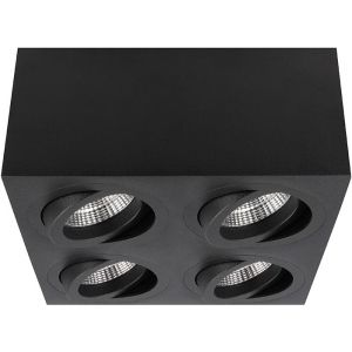 Aufbaustrahler Palermo Schwarz quadratisch carré schwenkbar