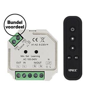 Kabelloser LED-Dimmer 230V Komplettes Set inkl. 1 Zone RF-Fernbedienung