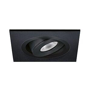 LED Einbaustrahler Alba quadratisch 3W 2700K Schwarz IP65 dimmbar schwenkbar