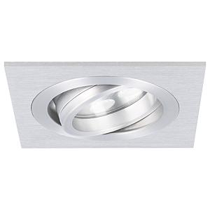 LED Einbaustrahler Lecco quadratisch 5W 2700K Aluminium IP65 dimmbar schwenkbar