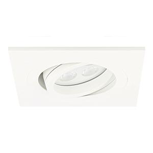 LED Einbaustrahler Lecco quadratisch 5W 2700K Weiß IP65 dimmbar schwenkbar