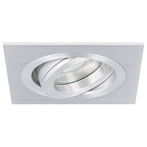 LED Einbaustrahler Cantello quadratisch 7W 2700K Aluminium IP65 dimmbar schwenkbar