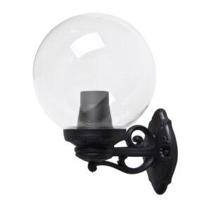 Wandleuchte G250 Schwarz klares Glas E27 IP55