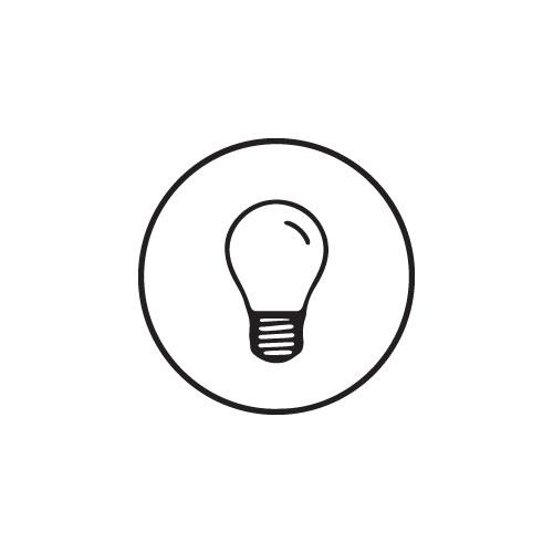 Aufbaustrahler Livia Weiß rund inkl. Lichtquelle 230V 3W IP55 diffuses Glas
