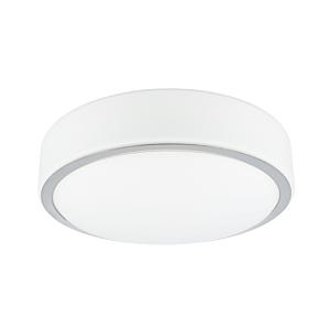 LED-Deckenleuchte Zamora rund 25,5 cm IP44 Glas
