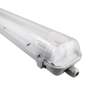 Halterung LED-Röhren 2 X 120cm Aqua Pro koppelbar IP65 inkl. 2x LED-Röhre 18W 3000K