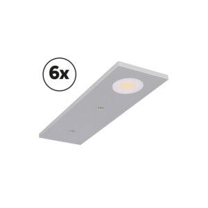 LED-Schrankbeleuchtung Komplettes Set Somano Aufbau 6 x 3W 2700K Aluminium dimmbar 12V DC