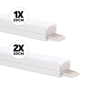 LED-Schrankbeleuchtung Komplettes Set Aufbau 12W 3000K Aluminium dimmbar 24V DC