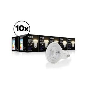 GU10 LED-Lampe Izar 10er-Pack 36° 6W 2700K dimmbar