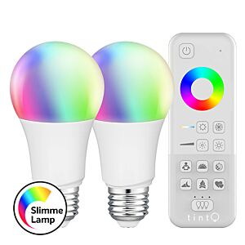 E27 Smart LED-Lampe Starterset tint A60 9,5W RGB dimmbar mit Fernbedienung