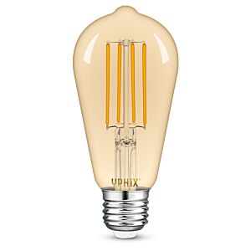 E27 LED Filament Lampe Edison Atlas ST64 8W 2200K dimmbar gold