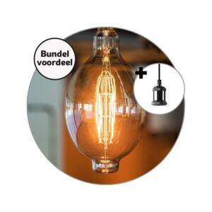 E27 LED Filament Lampe Pendel kugel mit XXL 8W 2700K dimmbar gold