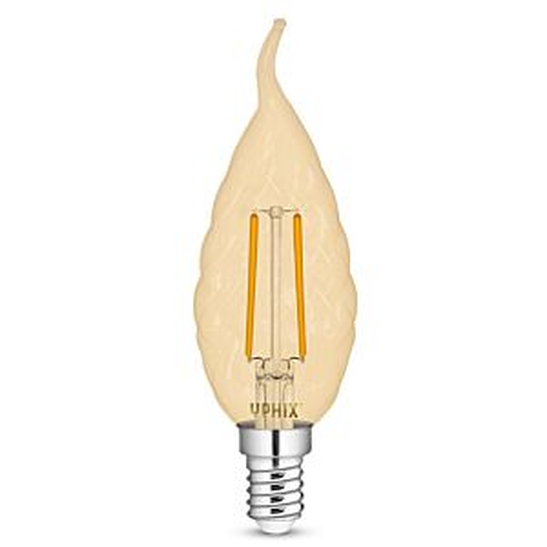 E14 LED Lampe Kerzenform BA35 Filament Polaris 2,5W 2200K
