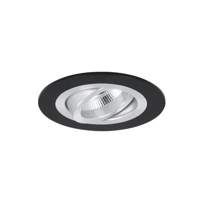 Einbaustrahler Venezia 35mm Strahlers rund Schwarz schwenkbar mit Klemmfedern