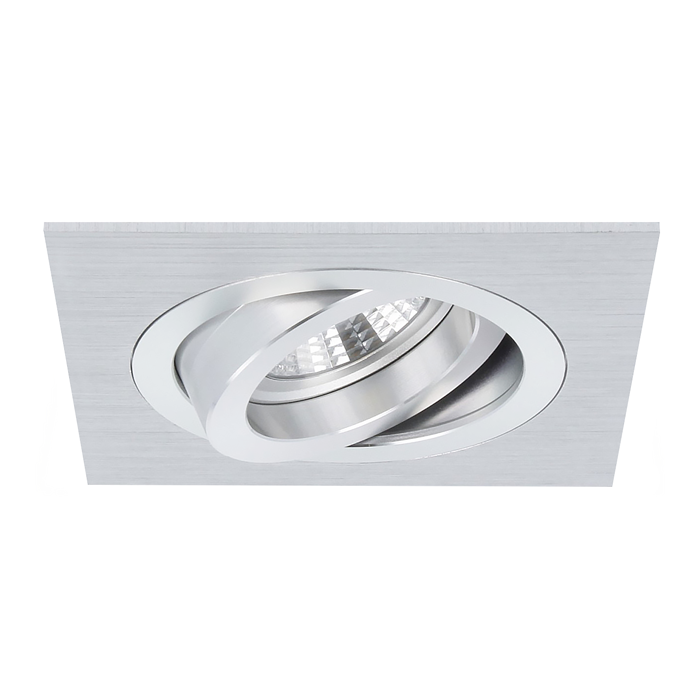 Einbaustrahler Torino quadratisch Aluminium schwenkbar mit Klemmfedern