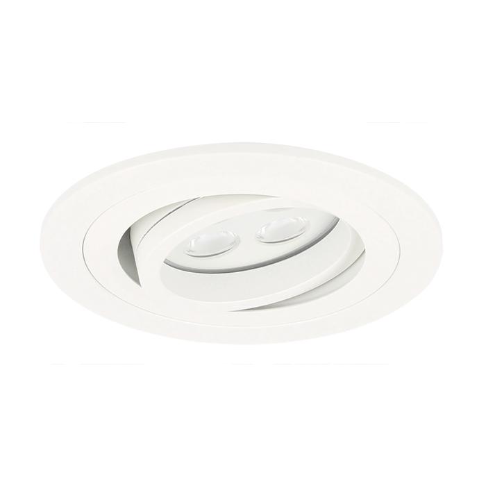 LED Einbaustrahler Montella rund 5W 2700K Weiß IP65 dimmbar schwenkbar