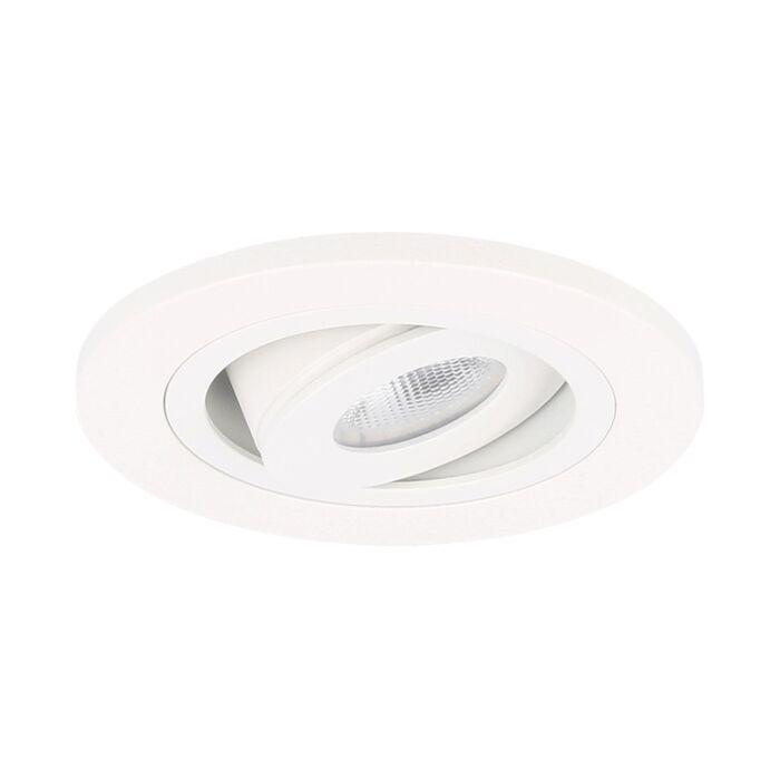 LED Einbaustrahler Monza rund 3W 2700K Weiß IP65 dimmbar schwenkbar