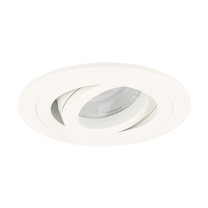 LED Einbaustrahler Argenta rund 7W 2700K Weiß IP65 dimmbar schwenkbar