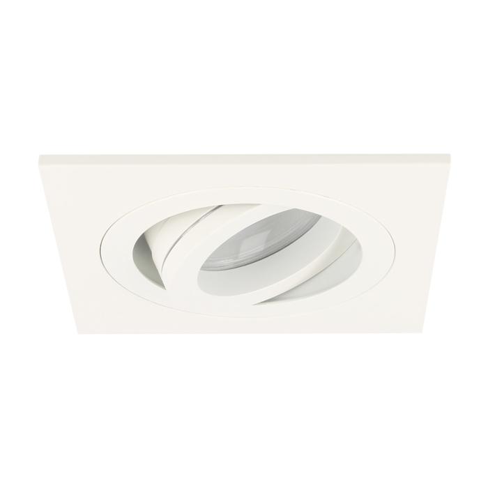 LED Einbaustrahler Cantello quadratisch 7W 2700K Weiß IP65 dimmbar schwenkbar
