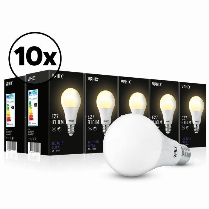 E27 LED-Lampe Ultra 10er-Pack A60 9W 2700K dimmbar