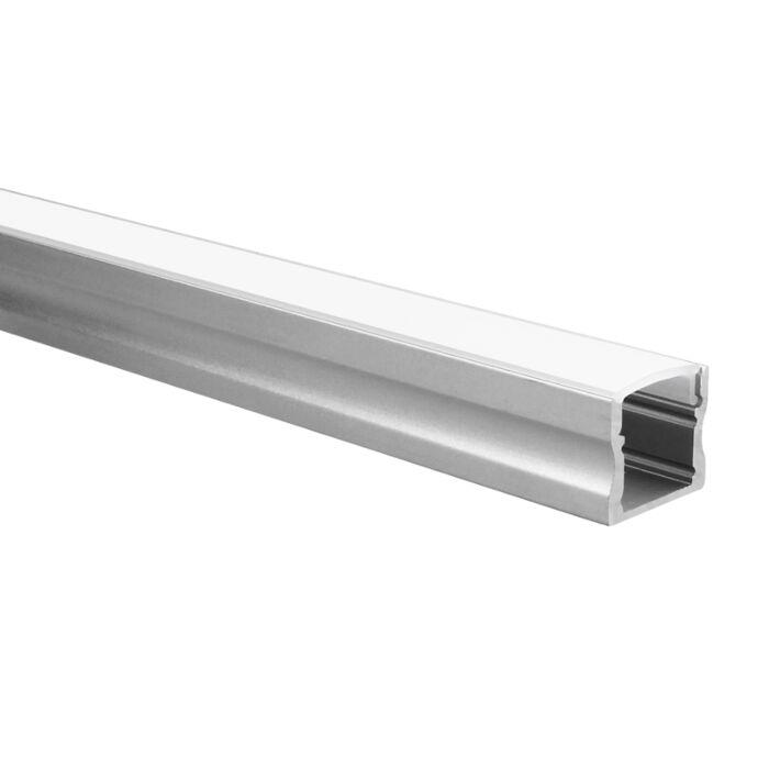 LED-Streifen Profil Potenza Aluminium hoch 5m (2 x 2,5m) inkl. milchweißer Abdeckung