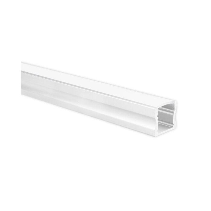 LED-Streifen Profil Potenza Weiß hoch 5m (2 x 2,5m) inkl. milchweißer Abdeckung