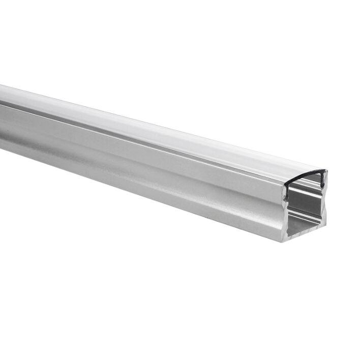 LED-Streifen Profil Potenza hoch 1m inkl. transparente Abdeckung