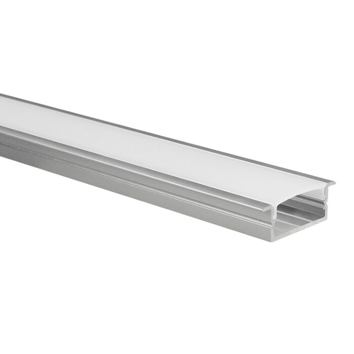 LED-Streifen Profil Marconia Aluminium breit 5m (2 x 2,5m) inkl. milchweißer Abdeckung