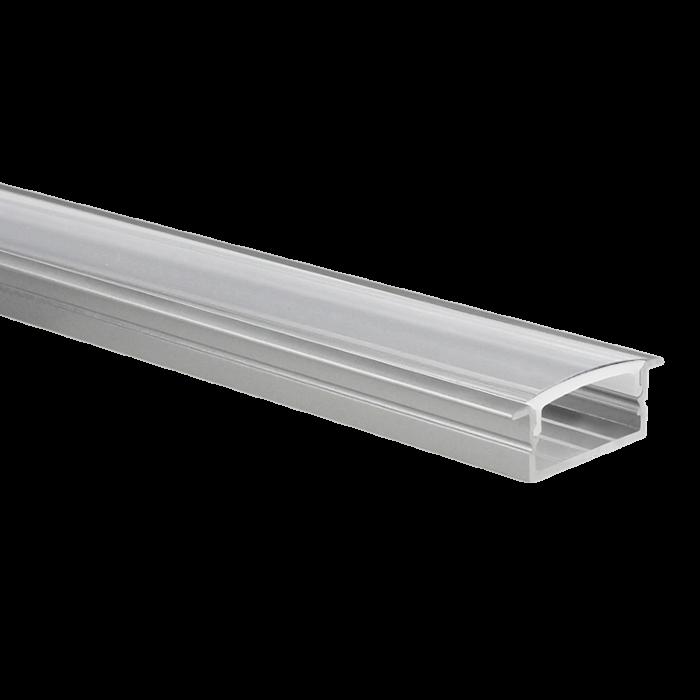 LED-Streifen Profil Marconia Aluminium breit 5m (2 x 2,5m) inkl. transparente Abdeckung