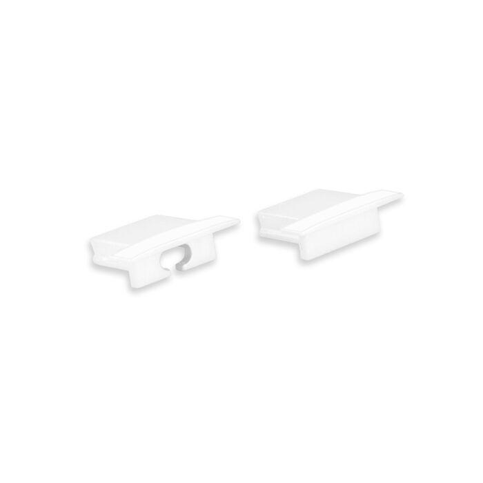 End caps Weiß für LED-Streifen Profil Matera niedrig