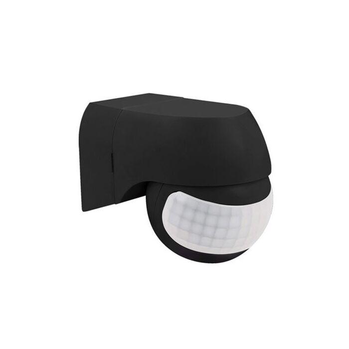 LED Bewegingsmelder Außen Mauer Aufbau Schwarz IP44