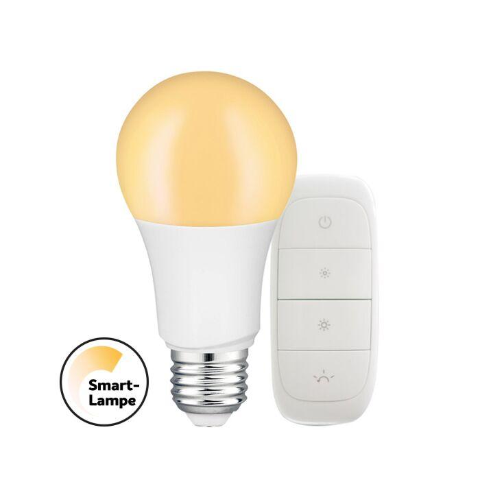 E27 Smart LED-Lampe Dimmerset tint A60 9W 2700K dimmbar mit Fernbedienung