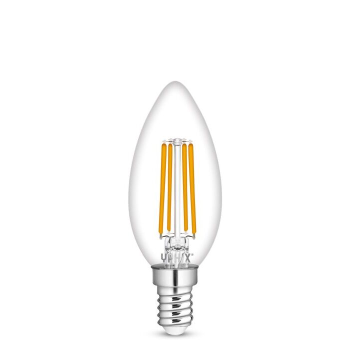 E14 LED Lampe Kerzenform B35 Filament Atlas 4,5W 2700K dimmbar